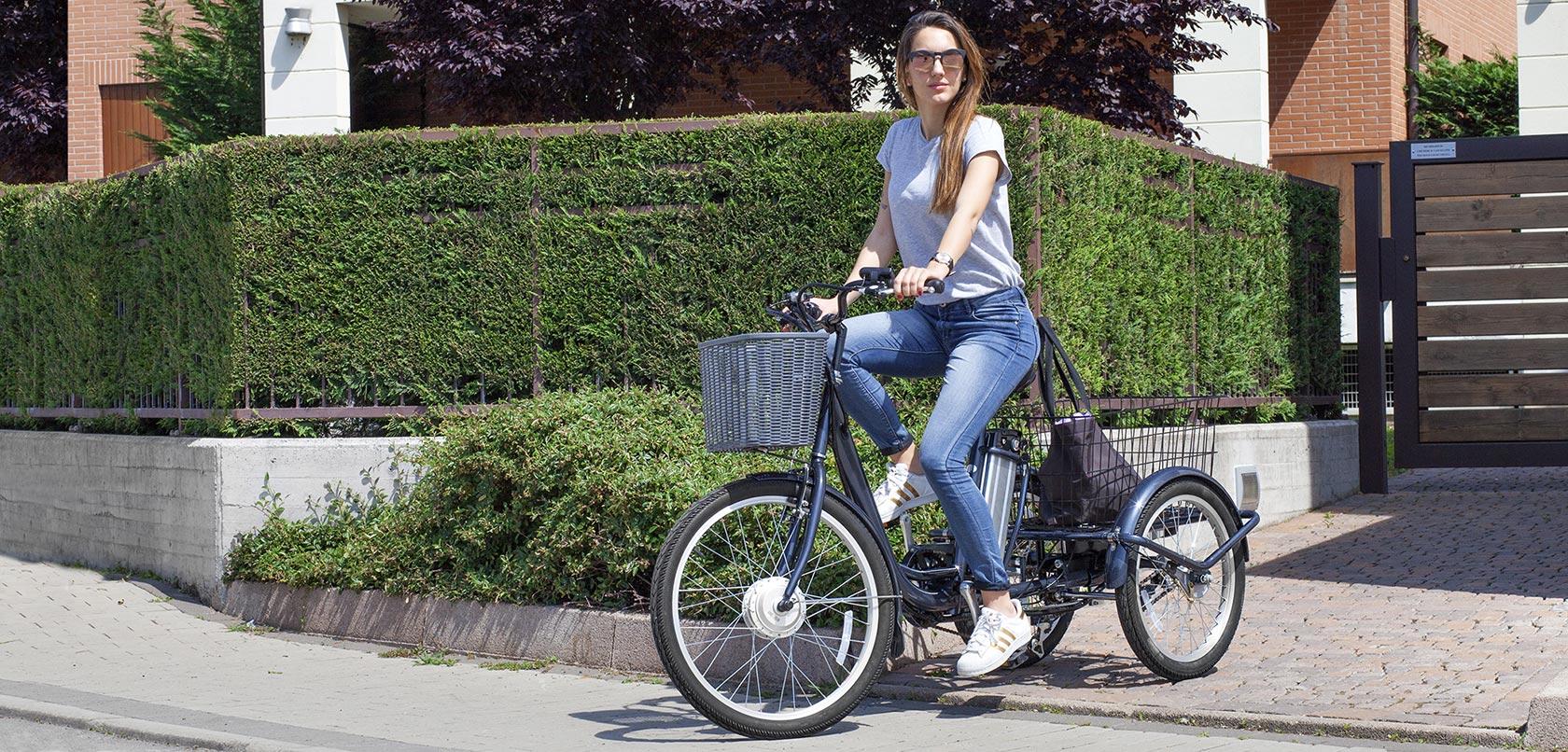 triciclo a pedalata assistita - Wy bicicletta elettrica