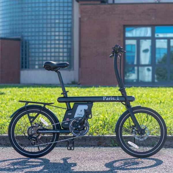 paris bicicletta pieghevole a pedalata assistita – nero – wy biciclette elettriche-4266