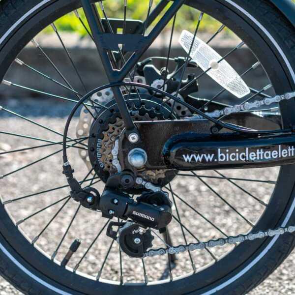 paris bicicletta pieghevole a pedalata assistita – nero – wy biciclette elettriche-4269