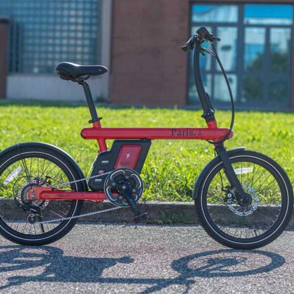 paris bicicletta pieghevole a pedalata assistita – rosso – wy biciclette elettriche-4276